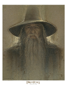 Gandalf Antique Art Print - The Lord of the Rings