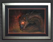 Smaug- King under the Mountain FRAMED Giclee